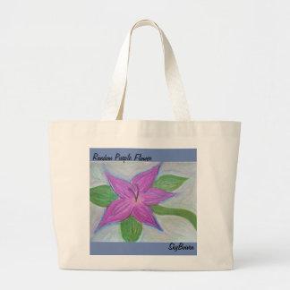 o bolsa roxo aleatório da flor