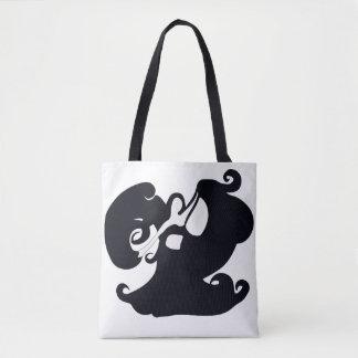 O bolsa tomado partido dobro preto e branco