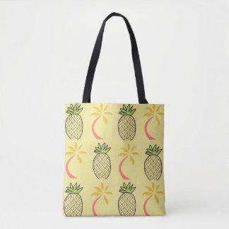 O bolsa tropical da palma do abacaxi da praia da