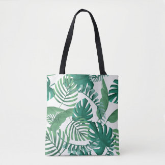 O bolsa tropical do impressão das folhas de