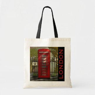 O bolsa vermelho britânico de Londres da caixa de