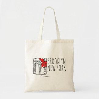 Bolsa Tote O bolsa vermelho do feriado da Nova Iorque NYC da