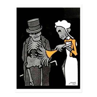 O bom cartão do esqueleto dos cavalheiros cartao postal