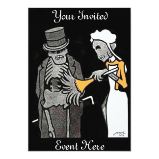 O bom convite do esqueleto dos cavalheiros convite 12.7 x 17.78cm