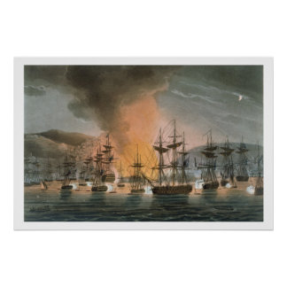 O bombardeio de Argel, o 27 de agosto de 1816, de Pôster