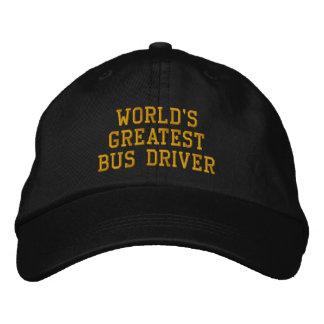 O boné bordado o grande condutor de autocarro do