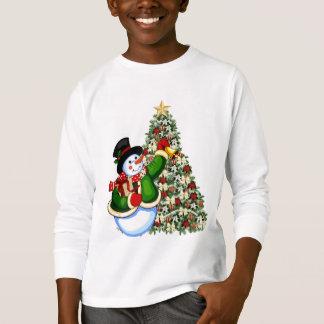 O boneco de neve do Natal caçoa o t-shirt do Camiseta