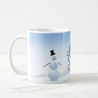 """O boneco de neve do Natal """"deixou-o nevar"""" caneca"""