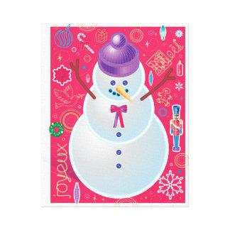 O boneco de neve esticou o impressão das canvas impressão em tela canvas