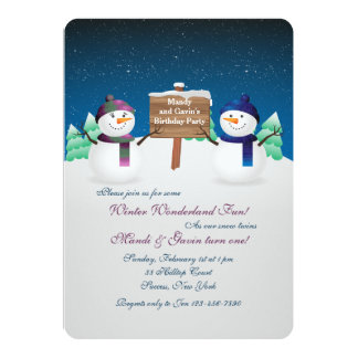 O boneco de neve junta o convite