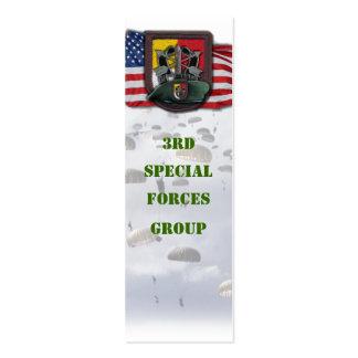 ó bookmarker do grupo das boinas verdes de forças cartão de visita skinny