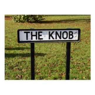 O botão - cartão rude engraçado do nome do local