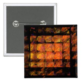 O botão da arte abstracta da parede (quadrado) bóton quadrado 5.08cm