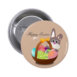 O botão do coelhinho da Páscoa personaliza Bóton Redondo 5.08cm