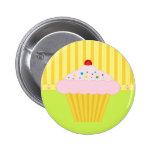 O botão do cupcake pins
