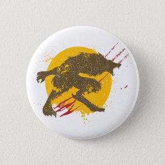O botão do homem-lobo bóton redondo 5.08cm