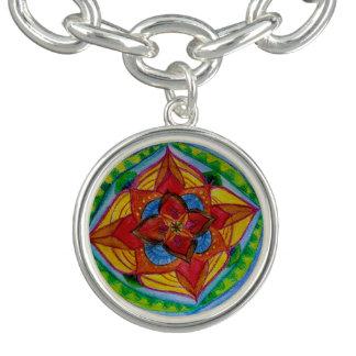 O bracelete da mandala da geometria da flor,