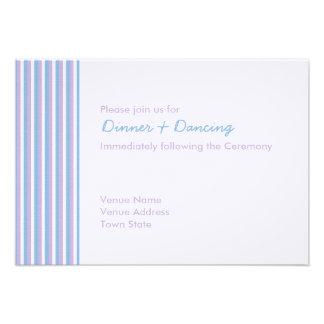 O branco azul do Lilac listra a recepção de casame