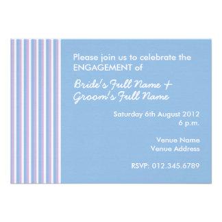 O branco azul do Lilac listra o noivado azul convi