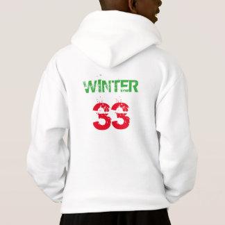 O branco caçoa o inverno de Ian do Hoodie