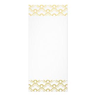O branco da folha de ouro Scalloped descasca o 10.16 X 22.86cm Panfleto