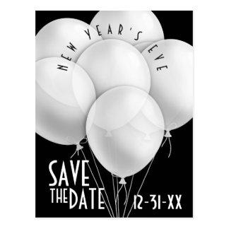 O branco elegante Balloons o convite de festas do
