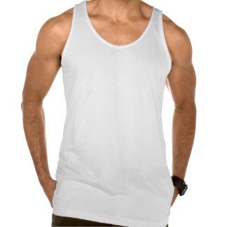 """O branco """"todos merece mais."""" Camisola de alças co Camiseta"""