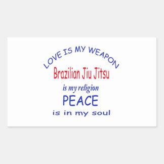 O brasileiro Jiu Jitsu é minha religião Adesivo Retangular