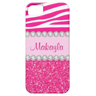 O brilho cor-de-rosa feito sob encomenda Sparkles Capas Para iPhone 5