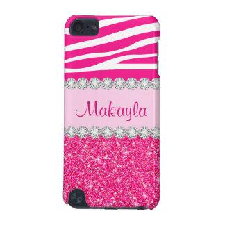O brilho cor-de-rosa Sparkles capa do ipod touch