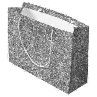 O brilho de prata Stars o grande saco moderno à Sacola Para Presentes Grande
