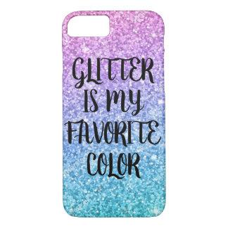 O brilho é minha capa de telefone favorita da cor