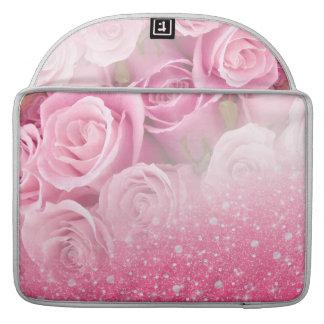 O brilho Sparkly do falso cor-de-rosa aumentou Bolsas Para MacBook Pro
