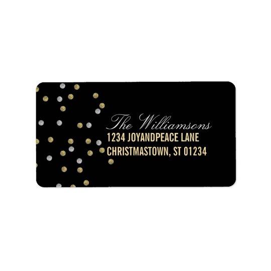 O brilho Sparkly pontilha etiquetas de endereço do Etiqueta De Endereço
