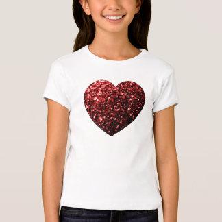 O brilho vermelho do encanto bonito sparkles camiseta