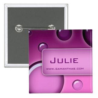 O broche do botão do nome de etiqueta do salão de  botons