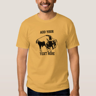 O búfalo a personalizar como você gosta t-shirts