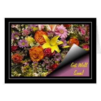 O buquê da flor obtem o cartão bom