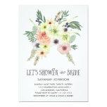 O buquê floral | deixou-nos regar a noiva | convite 12.7 x 17.78cm