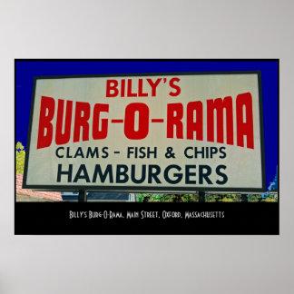 O burg-o-Rama de Billy, St. principal, Oxford, MÃE Poster