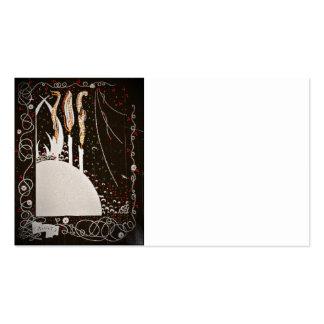 O Byrds da palavra no preto Cartão De Visita