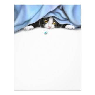 O cabeçalho do gato do caçador do inseto papel de carta