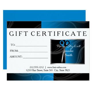 O cabeleireiro moderno consulta um preto e um azul convite 11.30 x 15.87cm