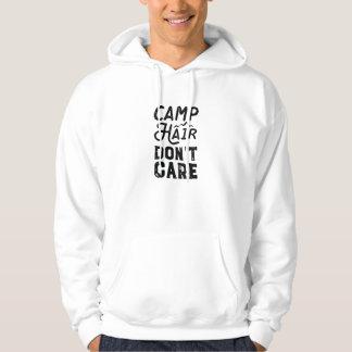 O cabelo do acampamento não se importa moletom