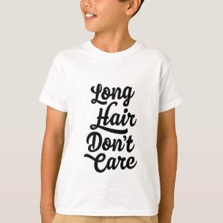 O cabelo longo não se importa o t-shirt dos miúdos camiseta