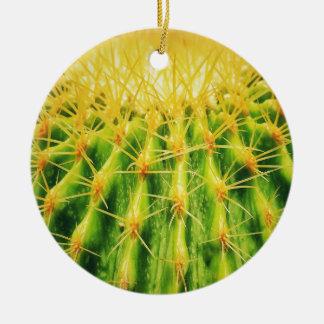 O cacto verde Dble-tomou partido ornamento