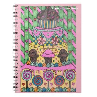 O caderno do bolo do pirulito personaliza