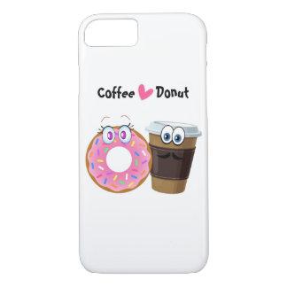 O café bonito e engraçado ama a caixa do móbil da capa iPhone 7