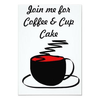 o café convida o cartão convite 8.89 x 12.7cm