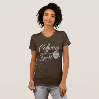 O café da vida de Bling faz-me a camisa da faísca